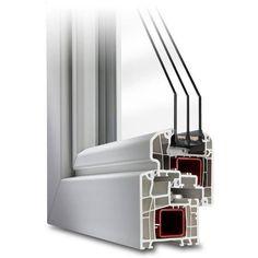 Parallel-Schiebe-Kipp-Tür aus Kunststoff - Profil IDEAL 5000