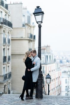 Paris Photographer Engagement Photoshoot at MontmartreParis Engagement Photos at Montmartre are truly unique. Again, the early bird catches the worm. Consider starting at Maison Rose where you can create your own post cards