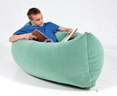Climb in to an Sensory Pea Pod for a cozy, soothing sensory experience as you read or use a tablet. With super-strong, durable vinyl with triple-welded seams, this inflatable pod applies even calming pressure throughout the lower body. Sensory Tools, Sensory Play, Sensory Therapy, Sensory Diet, 4 Kids, Children, Classroom Supplies, Autism Classroom, Classroom Setup