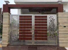 Modern Front Gate Design, Iron Main Gate Design, Home Gate Design, Gate Wall Design, Front Wall Design, Grill Gate Design, Gate Designs Modern, House Main Gates Design, Main Door Design
