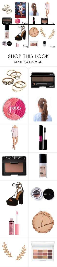 """Danielle Campbell"" by cheapchicceleb ❤ liked on Polyvore featuring Shiseido, WithChic, Romeo + Juliet Couture, Lancôme, NARS Cosmetics, Aquazzura, Bobbi Brown Cosmetics, Charlotte Russe, Estelle & Thild and Humble Chic"