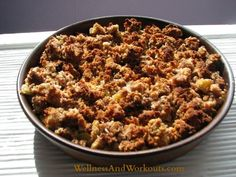 Why is this the best apple crisp recipe? Well, it tastes amazing. But that is not all. It is gluten free, grain free, dairy free, and refined sugar free. Sweetened with honey!