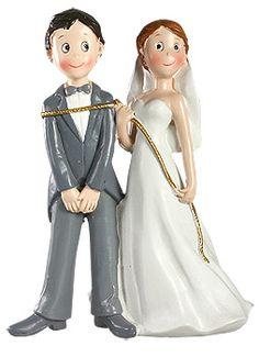 figurine des maris modernes mettre la corde au cou prendra tout son sens - Figurine Mariage Humoristique