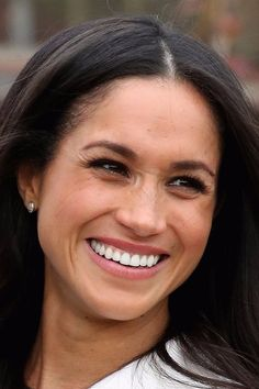 Meghan Markle- She's so beautiful and I absolutely ❤️her smile. Great match for Prince Harry!!
