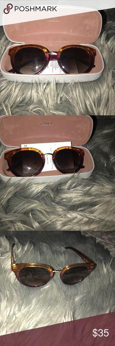 Zara sunglasses 🕶 Only worn couple of times. Like new. Zara Accessories Sunglasses