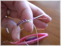 Load your shuttle with beads, this picture give an idea how you will make rings with beads. Great tutorial.