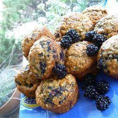 Blackberry Brekkie Muffins @ allrecipes.com.au