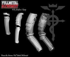 Edward Elric Automail | Fullmetal Alchemist Edward Elric Automail - iwpsd.net