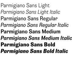 Parmigiano Typographic System by Peter Bilak