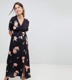 ASOS MATERNITY NURSING Wrap Maxi Dress In Floral Print.#ad