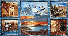 A Beautiful First Light Duck Hunting Fabric by CountryCharmFabrics, $15.95
