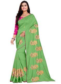 Green Designer Saree Pistachio Green, Embroidered Silk, Silk Sarees, Sari, Unique, Collection, Fashion, Saree, Moda