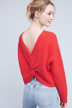 Cashmere Twist-Back Pullover Diy Fashion 94e4616e3