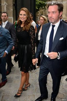 Princesse madeleine et son mari chris  a paris pour le défilé de valentino (celui qui a fait sa robe de mariée) qui se déroulait le 3 juillet 2013