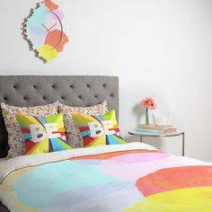 Duvet Covers with over 5,000 designs to choose from!   Shown here: CIRCLES by Hello Twigs, GENEVIEVE FLORALS PINK by Jennifer Denty, BE SPECTRUM 1 by Kal Barteski