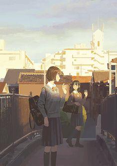 Anime Girl Cute, Anime Art Girl, Manga Art, Comics Illustration, Illustrations, Aesthetic Anime, Aesthetic Art, Pretty Art, Cute Art