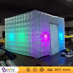 2017 Free Delivery wonder cube <font><b>tipi</b></font> inflatable led lighting photo booth tent Customized blow up marquee for toy tent