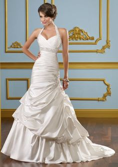 Fashion satin Mermaid Wedding Dresses