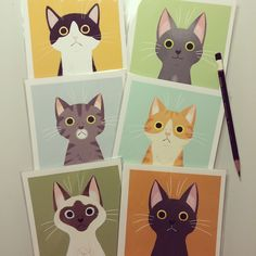 I'll be selling these cat prints at CTN :) Meow.