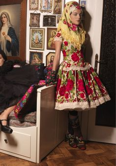 Modern take on Russian textile pairings