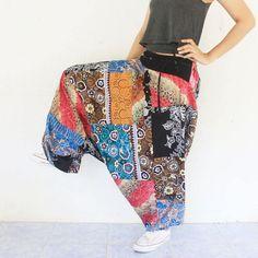 pathcwork Thai batik sarong harem pants handmade by meatballtheory