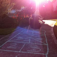 Hopscotch!  This is the layout we used to use.