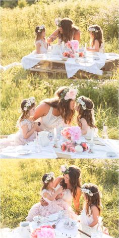 mommy and me photo shoot ideas, tea party with mommy photo shoot. styled photo shoot
