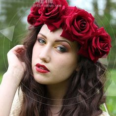 Rose Hair Garland
