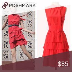 {anthropologie} ruffled oska silk dress Great condition. Girls from Savoy. Anthropologie Dresses