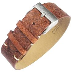 d1d234de549 ColaReb 22mm A1 Rust Brown Leather Strip Watch Strap Review Distressed  Leather