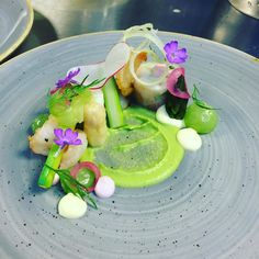 Prawn asparagus and cucumber #chefstalk #chefsplateform #chefsofinstagram…