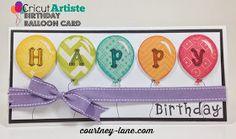 Cricut Artiste Balloon card