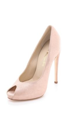 Max Kibardin Alba Peep Toe Pumps These are perfect!!! Love the blush pink color. $184.50 (70% off) There's a 37.5!