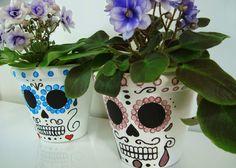 DIY: Vaso de Flores Caveira Mexicana (Sugar Skull Plant Pot)