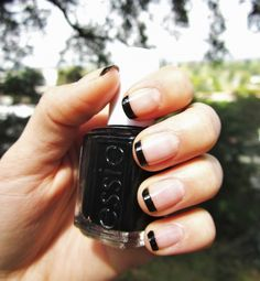 black tip french manicure.