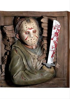 Seasonal Party Supplies -- Seasonal - Halloween Decor -- Movies & TV -- Friday the 13th - Jason Voorhees Wallbreaker