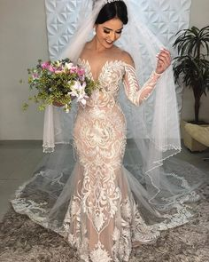 A wedding dress, as we all know is a dress which is worn by the bride on her wedding day. The color and the style of the wedding dress can depend on the cultural and the religious traditions. A sexy wedding dress can. Sexy Wedding Dresses, Wedding Attire, Bridal Dresses, Wedding Gowns, Bridesmaid Dresses, Lace Wedding, Backless Wedding, Modest Wedding, Casual Wedding