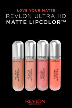 It's love at first swipe with Revlon Ultra HD Matte Lipcolor. This lightweight, high-definition lipcolor is made with a 100% wax-free, gel formula -- giving you the matte look you want and your lips the velvety moisturized feel they crave.