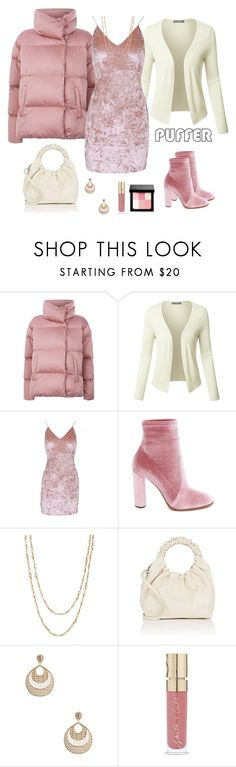 """""""Stay Warm: Puffer Coats"""" by alara-cary ❤ liked on Polyvore featuring Weekend Max Mara, LE3NO, Casadei, Samira 13, The Row, Amrita Singh, Smith & Cult, Bobbi Brown Cosmetics, Winter and puffercoats"""