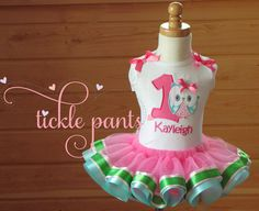 Owl Birthday Outfit Hot pink/aqua/pink Includes top by TicklePants