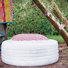 Home-Dzine - Repurpose a tyre into a comfortable outdoor seat
