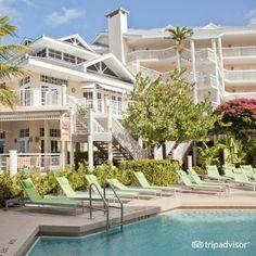 Pool resort restaurant and ocean in the background. #hyattkeywest #poolarea #keywestresort #vacationtips