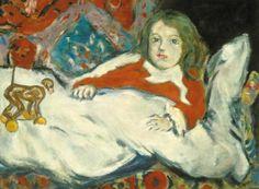 Csók, István (1865-1961) Züzü is sick, around 1940