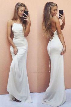 Wite Prom Dresses, Straps Prom Dresses, Elegant Prom Dresses, Mermaid Prom Dresses, Cheap Prom Dresses, Formal Evening Dresses, Sexy Dresses, Fashion Dresses, Dress Formal