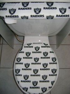 Oakland Raiders Toilet Seat Cover Set