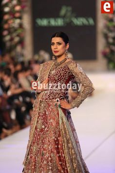 #nikieNina presenting collection on Pakistan bridal week pinned by #sidraYounas