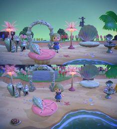 Home Interior Illustration beach : AnimalCrossing.Home Interior Illustration beach : AnimalCrossing Animal Crossing 3ds, Animal Crossing Qr Codes Clothes, Animal Games, My Animal, Mermaid Island, Motif Acnl, Motif Art Deco, Belle Epoque, Ac New Leaf
