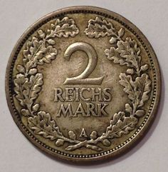 1926-A Germany, Weimar Republic, 2 Reichs Mark,German Silver Coin,*Nice /Rare…