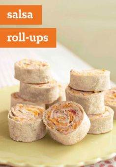 Salsa Roll-Ups – These cheesy bites pack a little heat to keep your smart eating plans interesting. Make this Healthy Living appetizer recipe basic or take it to the next level with pizza flavors or a riff on a BLT!