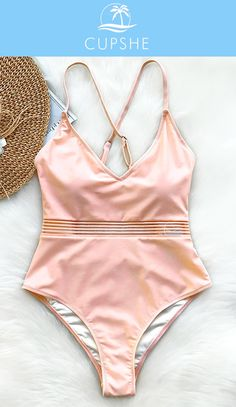 NEW ARRIVAL! A super elegant one-piece swimsuit can let you show the lumbar curve with good charming, smooth add glamour. Cupshe Endearing Smile Solid One-piece Swimsuit, classic and cute, HAVE it, today!